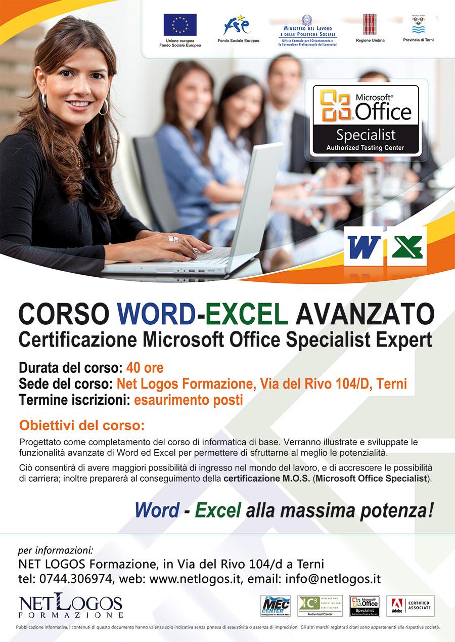 Corso Microsoft Word Excel avanzato